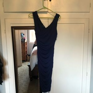 Navy Blue slinky dress from Express, worn once